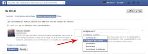 ajouter gestionnaire page facebook