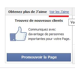 voir j'aime page facebook